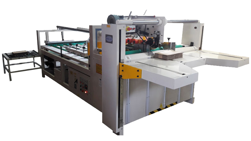Semi Auto Gluer with Stacker and Counter